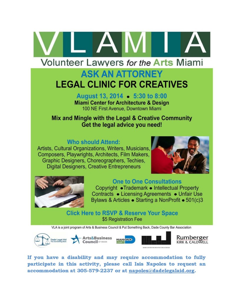 Volunteer Lawyers For The Arts: Volunteer Lawyers Assist Artists